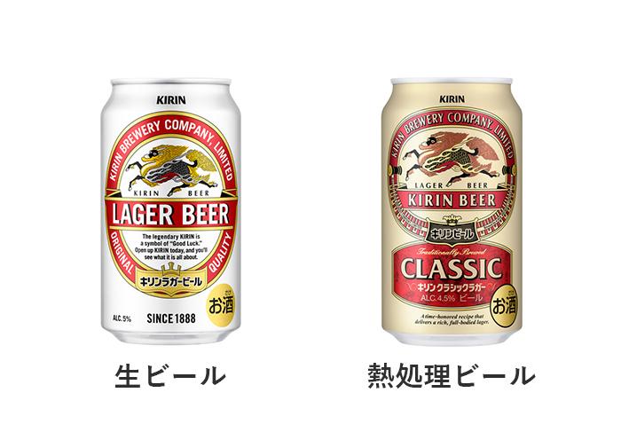 キリンラガービールとキリンクラッシックラガービール