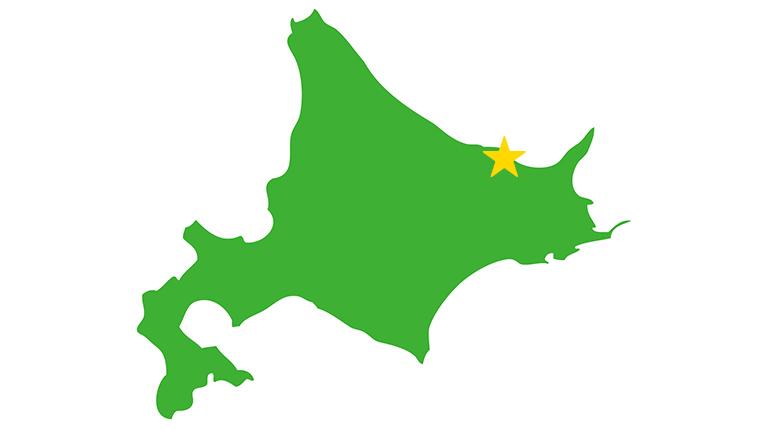 北海道網走市の位置