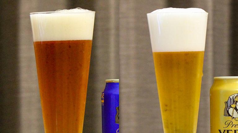 エビスプレミアムエールとエビスビールの色の違い